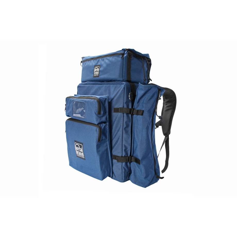 Porta Brace BK-3EXP Modular Backpack, Includes All Modules, Blue