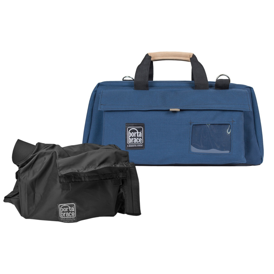 Porta Brace CS-DV3UQS-M4 Camera Case Soft, Blue, Large