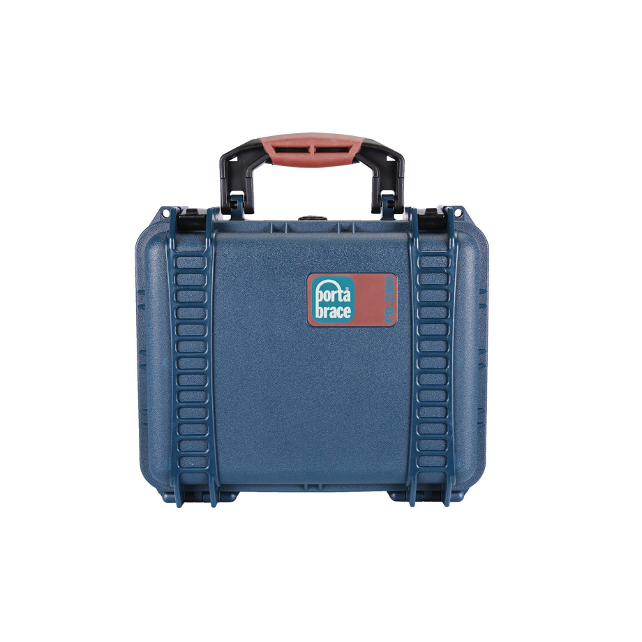 Porta Brace PB-2300F Hard Case, Foam Interior, Airtight, XS, Blue