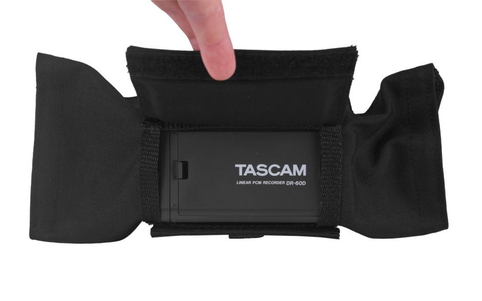 Porta Brace AR-DR60D Audio Recorder Case,Tascam DR-60D, Black
