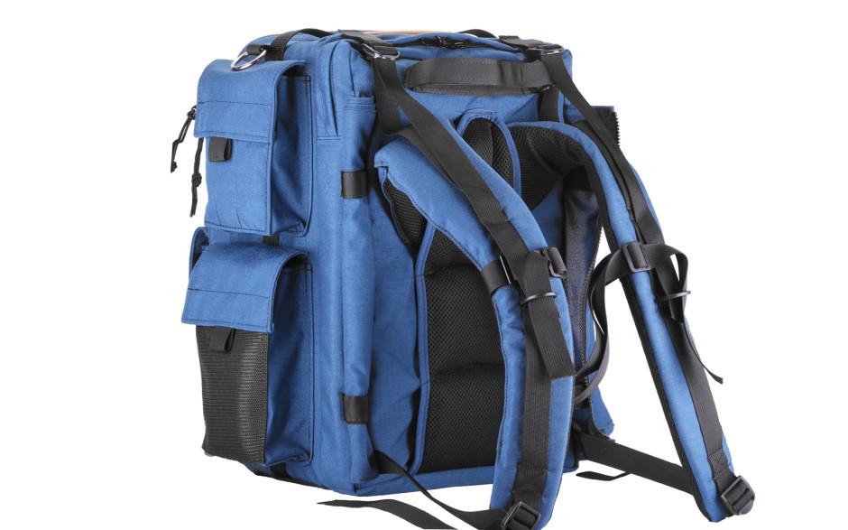 Porta Brace BK-1NQS-M3 Backpack Camera Case, Rigid Frame Shell, Blue