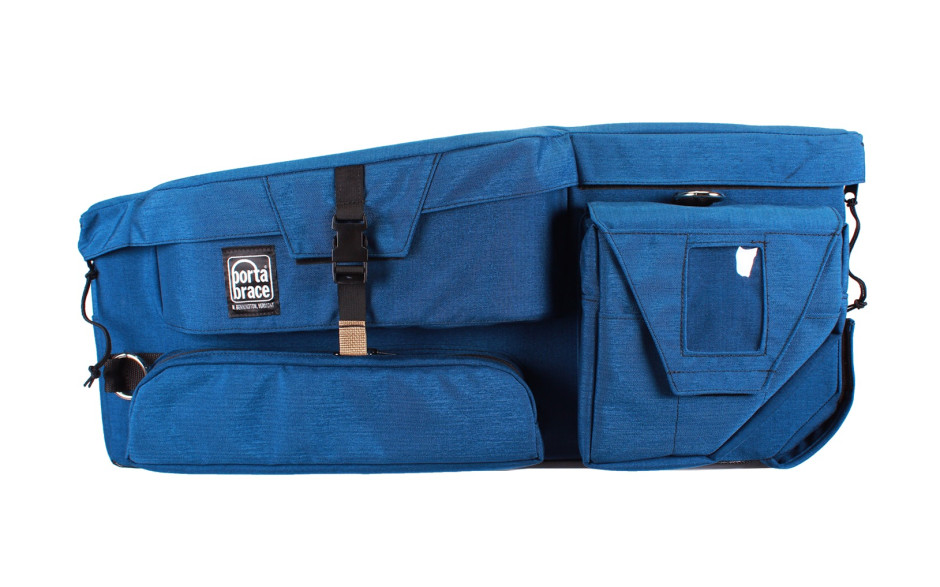 Porta Brace CC-HD1 Quick Draw, ENG Camera Case, Rigid Frame, Blue