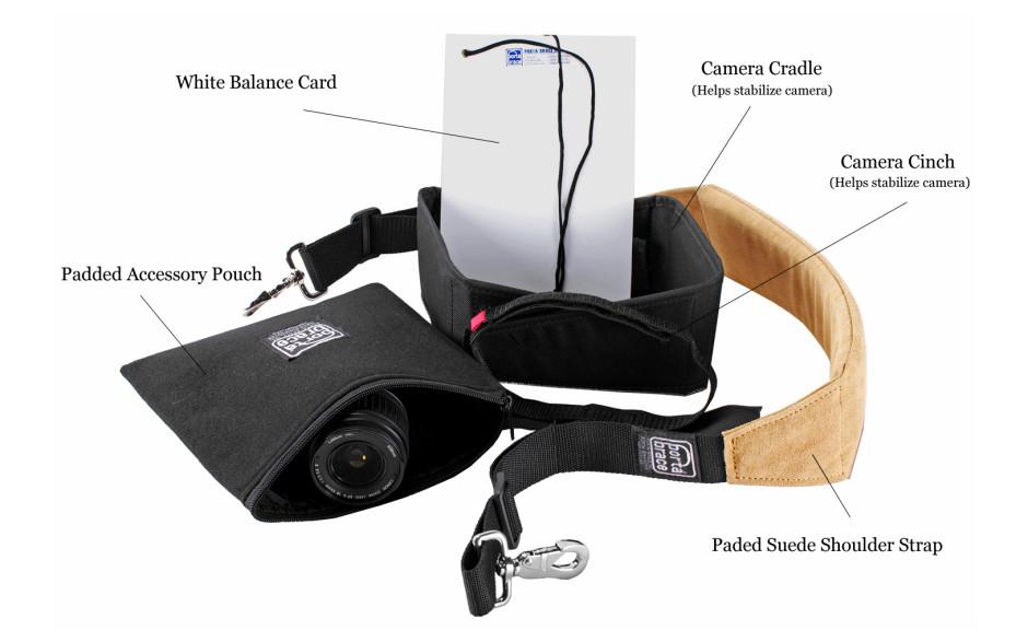 Porta Brace CS-DV3U Camera Case Soft, Compact HD Cameras, Blue, Large