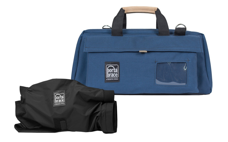 Porta Brace CS-DV3UQS-M3 Camera Case Soft, Blue, Large